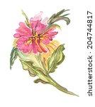 pink flower | Shutterstock . vector #204744817