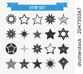 vector set of different... | Shutterstock .eps vector #204750367