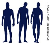 collection of male silhouettes... | Shutterstock .eps vector #204774937