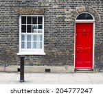 Red House Door On A London...