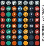 calendar september 2015 with... | Shutterstock .eps vector #204783043