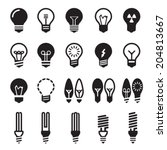 light bulbs. bulb icon set | Shutterstock .eps vector #204813667