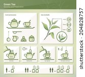 green tea | Shutterstock .eps vector #204828757