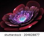 Fractal Flower Light Glass