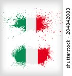 grunge italian ink splattered... | Shutterstock .eps vector #204842083