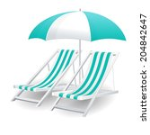 chair and beach umbrella... | Shutterstock .eps vector #204842647