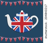 great britain teapot decoration ... | Shutterstock .eps vector #204843217