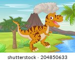 prehistoric scene with... | Shutterstock . vector #204850633