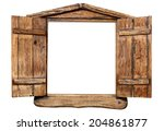 wooden window isolated on white | Shutterstock . vector #204861877