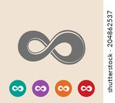 the symbol of infinity. | Shutterstock . vector #204862537