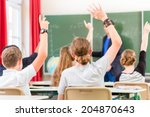 school class teacher giving... | Shutterstock . vector #204870643