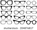 set of modern fashion glasses....