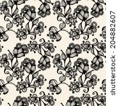 vector seamless pattern with... | Shutterstock .eps vector #204882607
