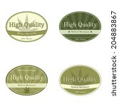 Set Of Oval Shape Labels For...