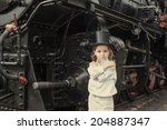 boy and steam engine | Shutterstock . vector #204887347