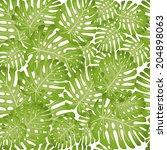 monstera. floral background | Shutterstock .eps vector #204898063