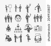 sketch business organization... | Shutterstock . vector #204910837