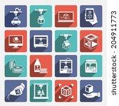 printer 3d graphic... | Shutterstock . vector #204911773