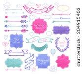 vector watercolor design...   Shutterstock .eps vector #204915403