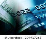 us dollars. macro image. | Shutterstock . vector #204917263