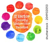 Watercolor Vector Circles. ...