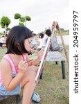 Small photo of NAKHONRATCHASIMA, THAILAND - JULY 6, 2014: Fun holiday coloring Bung Ta Lua Park Nakhon Ratchasima Thailand.