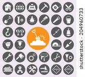 construction icons set  | Shutterstock .eps vector #204960733