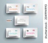 5 white rectangles on the grey... | Shutterstock .eps vector #204994993
