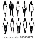 collection of people... | Shutterstock .eps vector #205030777