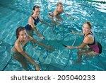Fitness Class Doing Aqua...