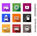 automobile and service flat... | Shutterstock .eps vector #205068943