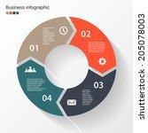 vector circle arrows for... | Shutterstock .eps vector #205078003