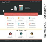 website template with flat ui...