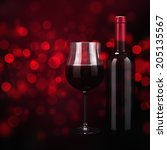 red wine with bokeh effect | Shutterstock . vector #205135567