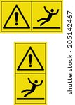 warning slippery floor | Shutterstock .eps vector #205142467