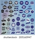 mega set of retro vintage... | Shutterstock .eps vector #205163947