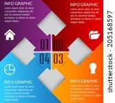 arrow colorful modern template... | Shutterstock .eps vector #205168597