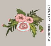 bouquet of flowers. floral... | Shutterstock .eps vector #205176877