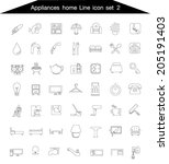 appliance home icons line set... | Shutterstock .eps vector #205191403