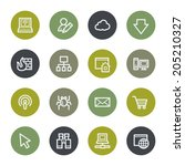 internet web icons set  color... | Shutterstock .eps vector #205210327