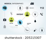 medical system connections icon ... | Shutterstock .eps vector #205215307