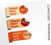 side orange bookmarks shadowed... | Shutterstock .eps vector #205219477