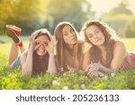 Three Beautiful Girls Laughing...