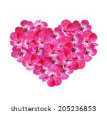 Heart With Flowers Isolated On...