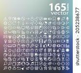line web icon  vector  | Shutterstock .eps vector #205238677