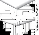 circuit board illustration ... | Shutterstock .eps vector #205241953