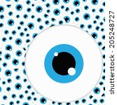 Blue Eye  Pattern Background