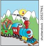 steam train illustration   Shutterstock .eps vector #20527961