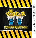 under construction design over... | Shutterstock .eps vector #205287127