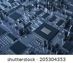 fantasy circuit board.... | Shutterstock . vector #205304353